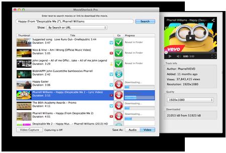 MovieSherlock Mac 破解版 视频下载和转换工具-麦氪派